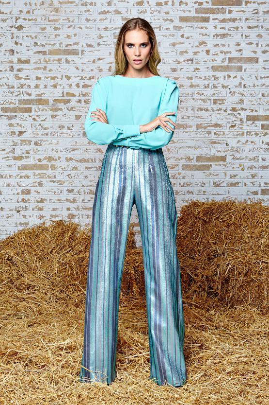Pantalón Palazzo+ blusa