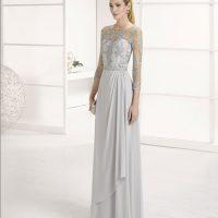 Vestido largo bordado