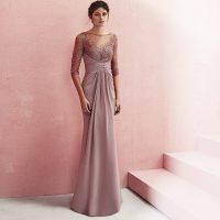 Vestido cuerpo bordado