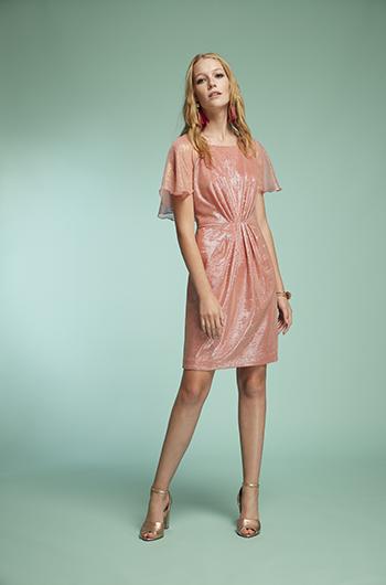 Vestido corto strass