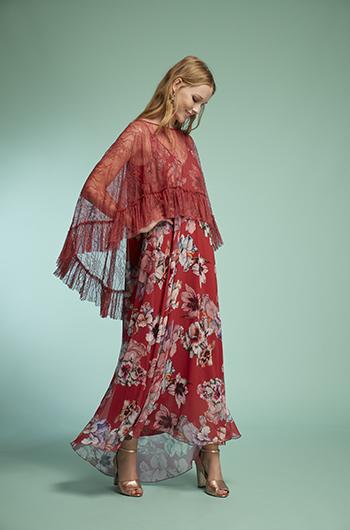 Vestido estampado seda
