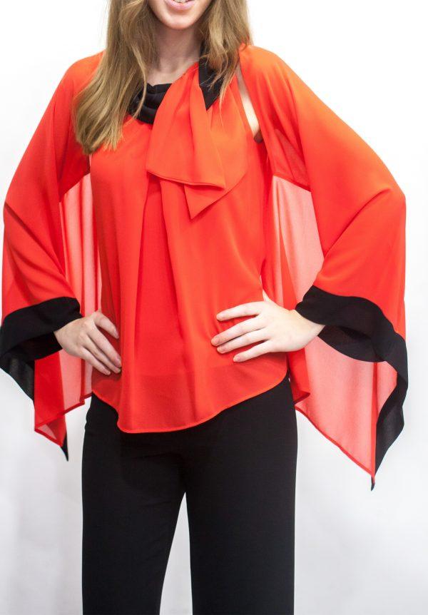 Camisa coral escote halter