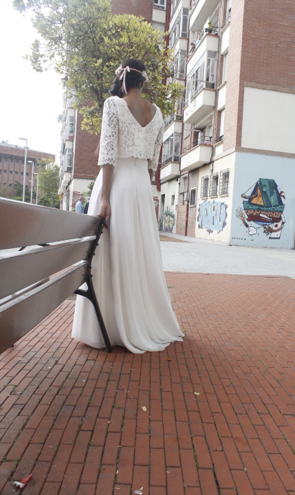 Falda de tul + corpiño de encaje
