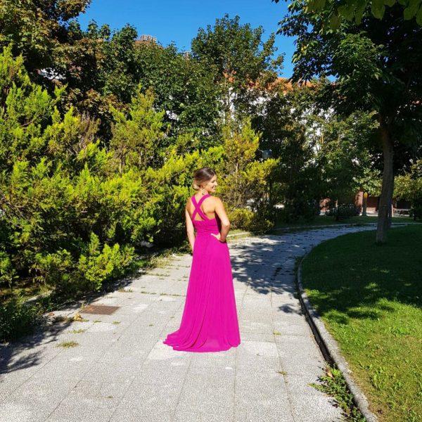 Vestido espalda cruzada