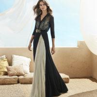 Vestido falda tableada
