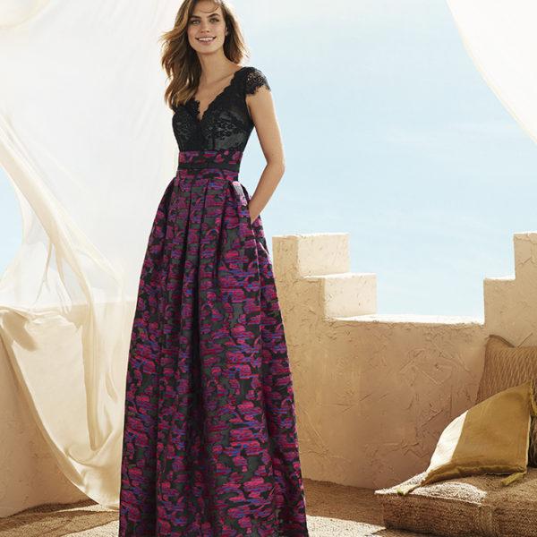 vestido encaje y falda dibujo