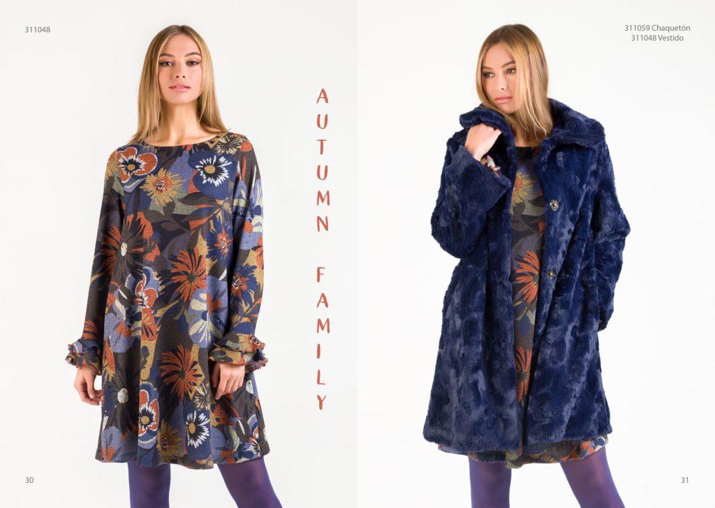 Vestido lana print