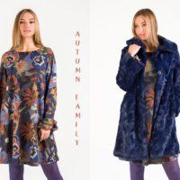 Vestido lana estampado