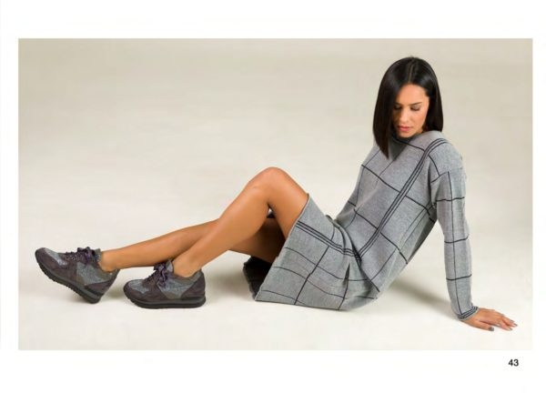 Vestido Cuadros Tricot