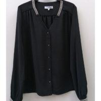 Blusa Pico Bies Negro